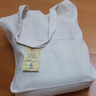 La tote bag de algodón orgánico con fuelle es perfectra para hacer la compra por su gran capacidad. Sus asas resistentes permiten llevar también mucho peso.