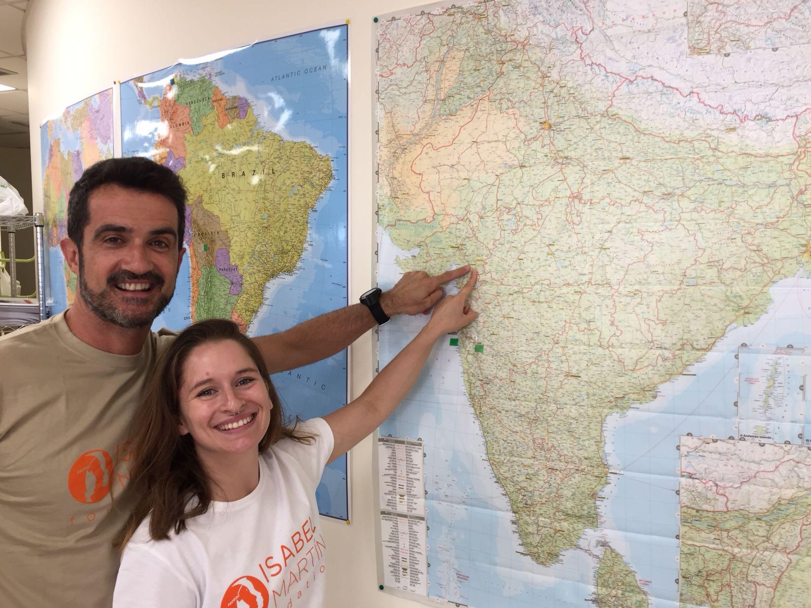 Voluntarios en la India