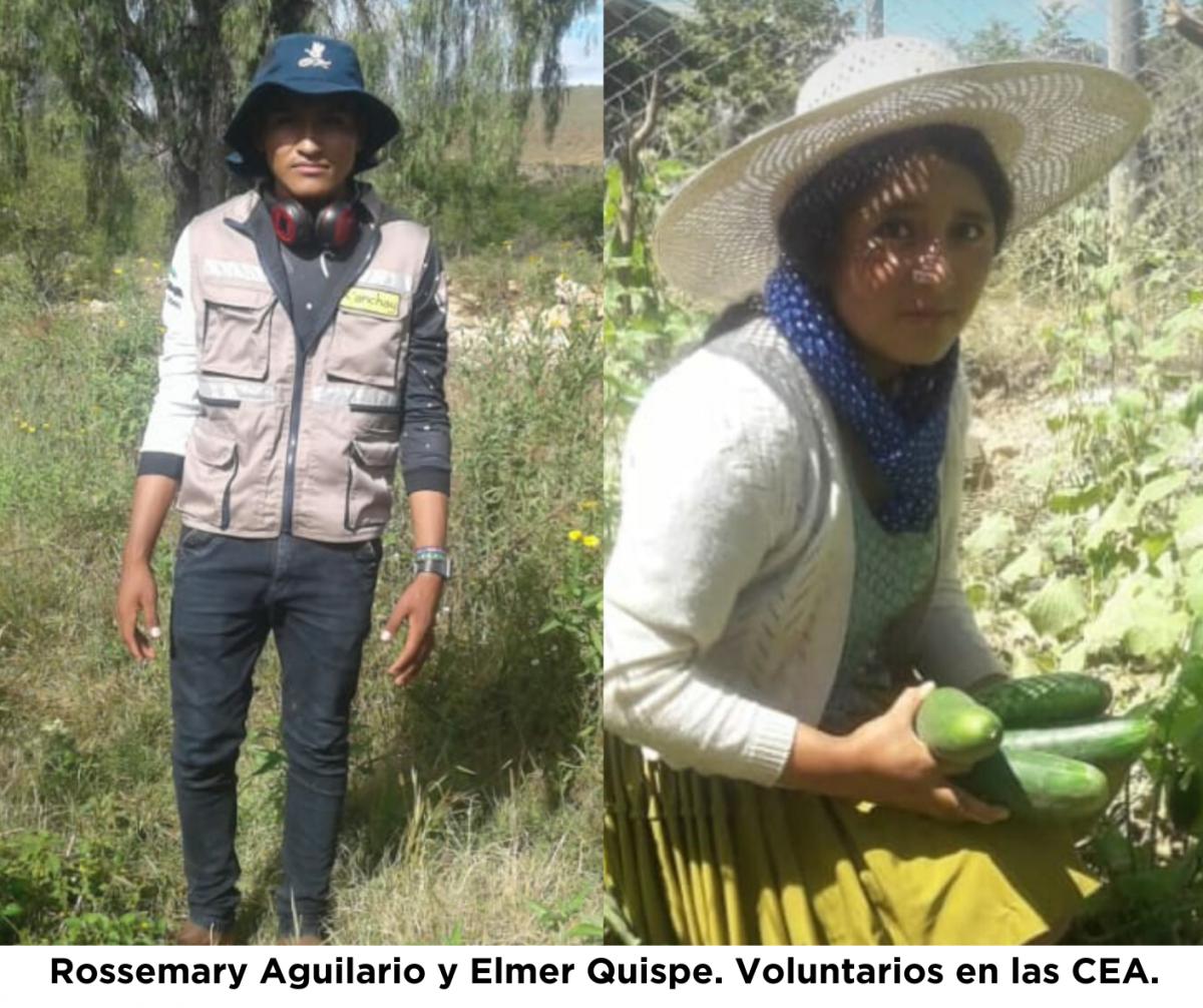 Testimonios de Rossmary y Elmer, voluntarios en las Comunidades Educativas Agroecológicas de K'anchay en Bolivia