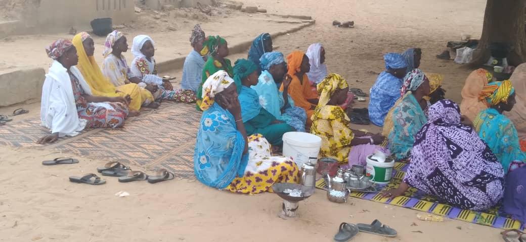 Mujeres de la Asociación Dewol Rewbe en una de sus asambleas (Pendao, Senegal)